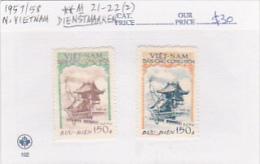 North Vietnam 1957 Miliatary Mail Pagoda Set MNH - Vietnam