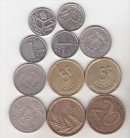 Belgium - 11 Coins Set - Collections