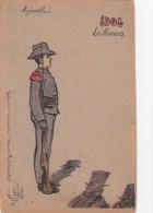 1904 Les Honneurs  - Soldat Au Garde à Vous (fusil, Baillonette) - Patriottisch