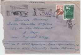 13373 Recommandé Tchernovitsy à Ixelles (Bruxelles) 22/09/1957 - Covers & Documents