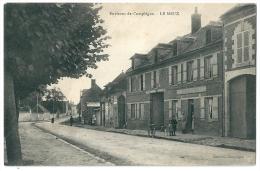 Cpa: 60 Environs De Compiègne LE MEUX (animé, Vélo, Chien) Edition: Bourson - France