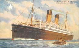"5215   S.S. ""Doric""  White Star Line - Steamers"