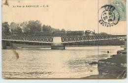 PONT DE RANVILLE  - Passage Du Train.(carte Endue En L´état) - Trains
