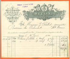 """75 - Paris -facture G Huclin Et Cie """"  1922 - Angelots - Francia"""