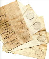 Généralité De PROVENCE (TOULON) =LOT De 5 Petits Papiers =1762=>71 - Cachets Généralité
