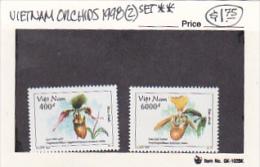 Vietnam 1998 Orchids Set MNH - Vietnam