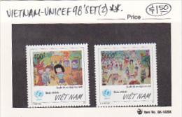 Vietnam 1998 UNICEF Set MNH - Vietnam
