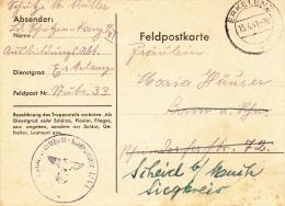 Feldpost WW2: Landesschützen Kompagnie 1/VI Dtd Erkelenz 15.4.1941 - Plain Postcard  (G44-1KB) - Militaria