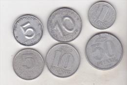 Germany - Democrat Republic 6 Coins Set - [ 6] 1949-1990 : RDA - Rep. Dem. Alemana
