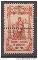 MA72-LA415TO.Maroc Marocco MARRUECOS ESPAÑOL Polizas Perforadas.1920. (Ed 72**) Sin Charnela MUY BONITO - Otros