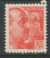 Spain 1939 Edifil # 871. General Franco 45 Cts. Grabador Sanchez Toda, MNH (**) - 1931-50 Nuovi
