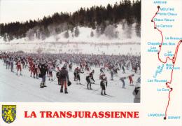 CPSM LA TRANSJURASSIENNE GRANDE COURSE DE SKI DE FOND 1988 CIRCUIT GEOGRAPHIQUE - Wintersport