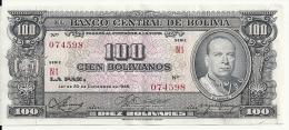 BOLIVIE 100 BOLIVIANOS  1945 VF P 147 - Bolivia