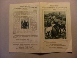Santino/calendario 1927 Ricordo VII°Centenario Francescano 1927. Dante Montanari S.Francesco D'Assisi - Calendari