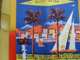 Depliant Turistico Cote D'Azur Costa Azzurra France - Cartes