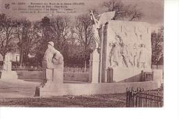 Dijon : Monument Aux Morts De La Guerre, Rond-point Du Parc, Face Droite (Edit. MD Dijon N°148 - Impr. Louys Et Bauer) - Dijon