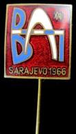 XXV BALKAN ATHLETICS GAMES SARAJEVO / YUGOSLAVIA 1966 OFFICIAL ENAMEL PIN BADGE - Athletics