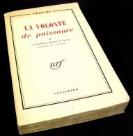 La Volonté De Puissance – T2 / Nietzsche / Éditions Gallimard Nrf En 1951 - Psychologie/Philosophie