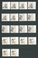 Zegels 1951 - 1953 ** Postfris Met Plaatnummers 1-2-3-4-5-6 - 1971-1980