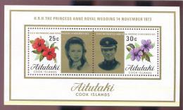 MINT NH  STAMPS OF AITUTAKI  #  77-8A  PRINCESS ANNE WEDDING - Aitutaki