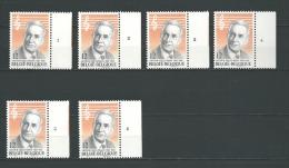 Zegel 2154 ** Postfris Met Plaatnummers 1-2-3-4-5-6 - 1981-1990