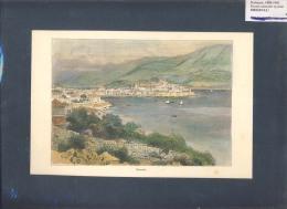 Old Litho Image    Croatia    KORCULA  CURZUOLA    1886-1901.    Size: 23 X 15 Cm. - Topographical Maps