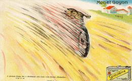 MONET GOYON SPIDOLEINE Rare Carte Publicitaire Italienne Illustrée - Motos