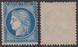 *PROMO* 25c Cérès Bleu Foncé Neuf ** Sans Charnière ! (Y&T N° 60Aa, Cote +++€) - 1871-1875 Cérès