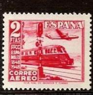 Spain 1948 Centennary Of Spanish Railway Trains Locomotives 1v C 125 MNH - Trains
