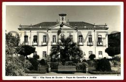 OUREM - PACOS DO CONCELHO E JARDIM - 1950 REAL PHOTO PC - Santarem