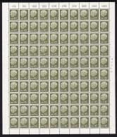 1957 Preident Heuss Sans Indication De Monnaie  45 Fr  Feuille Complète   Yv 374 ** - Neufs