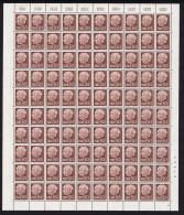 1957 Preident Heuss Sans Indication De Monnaie  50 Fr  Feuille Complète   Yv 375 ** - Neufs