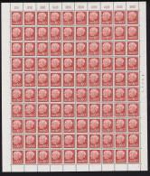 1957 Preident Heuss Sans Indication De Monnaie  60 Fr  Feuille Complète   Yv 376 ** - Neufs