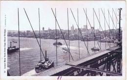 U.S.A. LOWER NEW YORK FROM EAST RIVER BRIDGE- 1900s J.KOEHLER POSTCARD - New York City