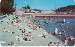 Coeur D'Alene ID Idaho, Municipal Beach Lake Shore, C1950s Vintage Postcard - Coeur D'Alene