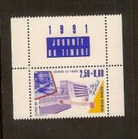 France, 2689, Avec Vignette, Neuf **, TTB, Tri Postal, Journée Du Timbre - Ongebruikt