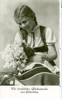 AK DDR 1963 Mädchen Mit Blumenstrauß Gebraucht - Birthday
