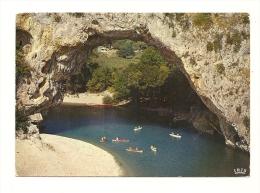 Cp, 07, L'Ardèche, Le Pont D'Arc, Voyagée 1969 - Vallon Pont D'Arc
