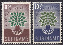 2171. Suriname, 1960, World Refugee Year, MH (*) ( Toned ) - Surinam