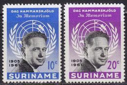 2174. Suriname, 1962, Death Of Dag Hammarskjold, MH (*) - Surinam