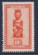 Ruanda Urundi, Scott # 90 MNH Carved Figures, 1948 - Ruanda-Urundi