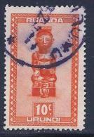 Ruanda Urundi, Scott # 90 Used Carved Figures, 1948 - Ruanda-Urundi