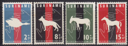 2180. Suriname, 1962, Protected Animal Species, MH (*) ( Toned A Little) - Surinam