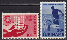 2181. Suriname, 1963, Fight Against Hunger, MH (*) - Surinam