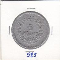 5 FRANCS Alu LAVRILLER 1946    9 Fermé - France