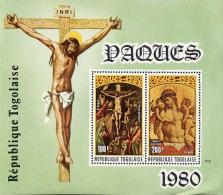 Togo (Rep) Bloc N** (Yv:138) Yv:4,2 Euro Pâques 1980 (pli) - Togo (1960-...)