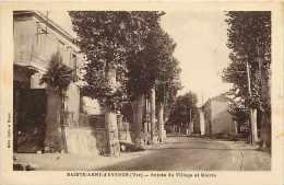 Var -  Ref A342 -sainte-anne -d'evenos - Ste-anne-d'evenos - Entrée Du Village Et Mairie - Carte Bon état - - Other Municipalities
