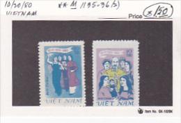 Vietnam 1980 National Womens Association 50th Anniversary Set MNH - Vietnam