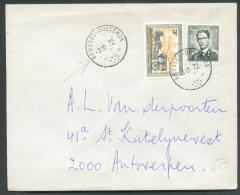 Lettre Affranchissement Mixte Dont Baudouin Marchand à 4Fr50. Obl. Sc Ambulant BRUSSEL-OOSTENDE Du 3-10-1972 Vers Anvers - Postmark Collection