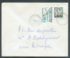 Lettre Affranchissement Mixte Dont Baudouin Marchand à 4Fr50. Obl. Sc Ambulant BRUXELLES-HERBESTHAL 2 Du 3-10-1972 Vers - Postmark Collection